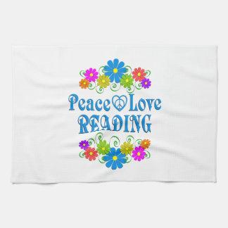 Lecture d'amour de paix serviette éponge
