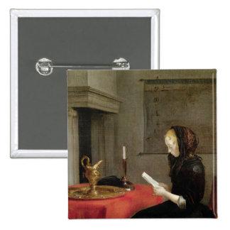 Lecture de femme, c.1662 badge