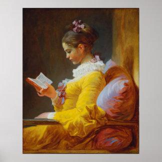 Lecture de jeune fille par Jean-Honore Fragonard Posters