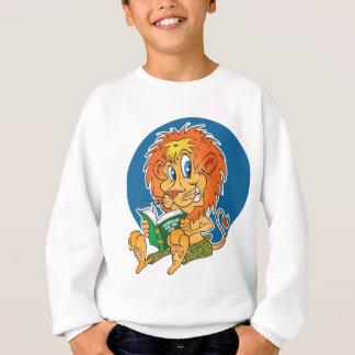 Lecture de lion de bande dessinée sweatshirt