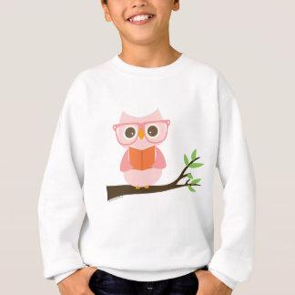 Lecture mignonne de hibou sweatshirt