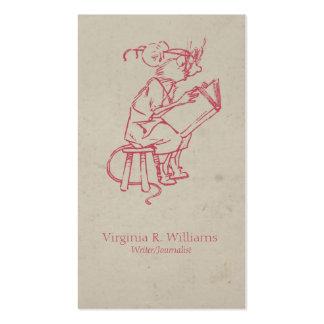 Lecture vintage de souris carte de visite standard