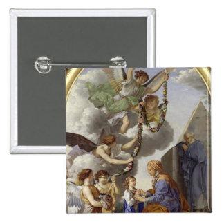 L'éducation de la Vierge Badge Carré 5 Cm