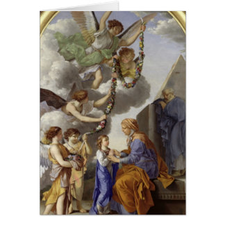 L'éducation de la Vierge Carte De Vœux