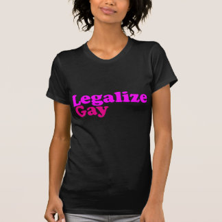 légalisez le magenta rose gai t-shirt