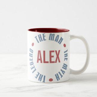 Légende de mythe d'homme d'Alex personnalisable Mug Bicolore