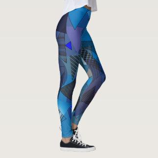 "Legging avec la conception ""de denim de triangles"""