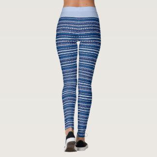 Leggings (50 nuances d'Aztèque bleu)