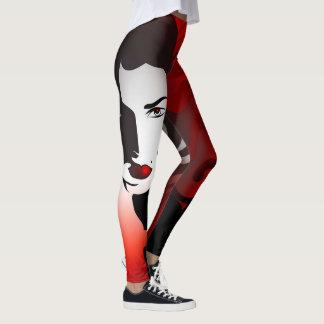 Leggings Abrégé sur rouge femme