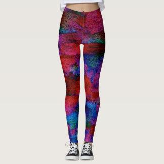Leggings Art de textile de colorant de glace