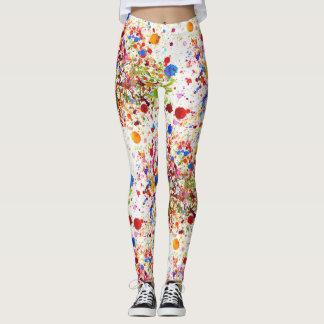 Leggings Belles guêtres heureuses colorées d'art