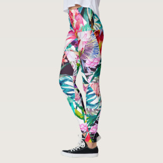Leggings Chaos abstrait superbe (coloré)