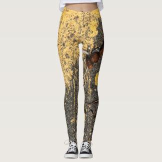 Leggings Chutes jaunes de peinture et de fer