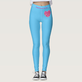 Leggings coeur de roses