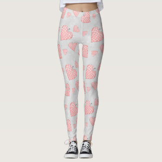 Leggings Coeur rose