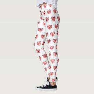 Leggings Coeur rouge de floraison
