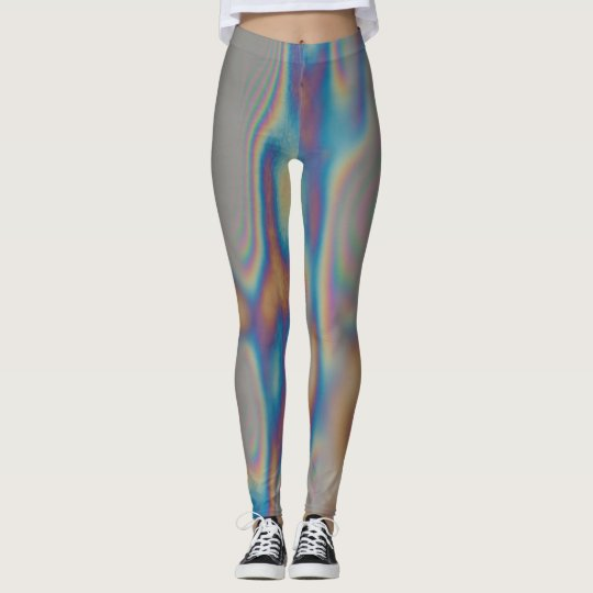 Leggings Colorful rainbow moiré reflection