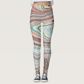 Leggings Conception Multi-Marbrée et originale de Karen