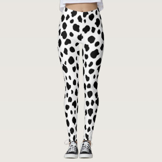 Leggings Copie dalmatienne de vache