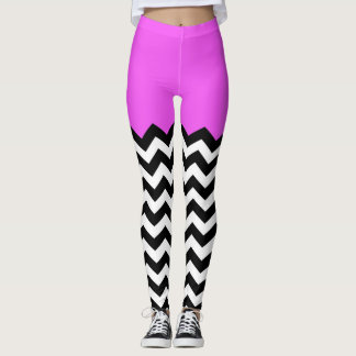Leggings Couleur bloquant le motif de Chevron