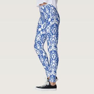 Leggings Damassé bleue et blanche marocaine de Casbah