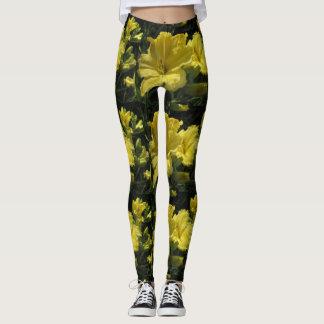 Leggings Daylilies jaunes majestueux