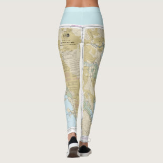 Leggings Diagramme nautique de canotage de Baie de San
