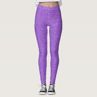 Leggings Effet pourpre de parties scintillantes