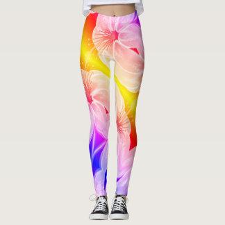 Leggings Fleur multicolore extraordinaire de lis
