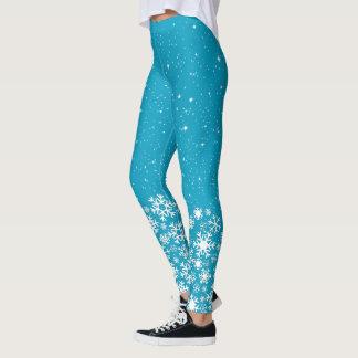 Leggings Flocons de neige et étoiles (editable)