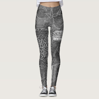 Leggings Forêt grise de patchwork