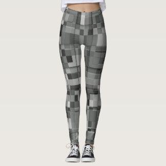 Leggings Gris carré de conception