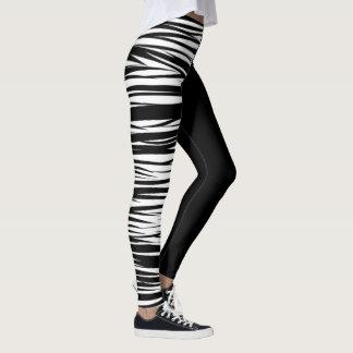 Leggings Guêtres blanches de tigre