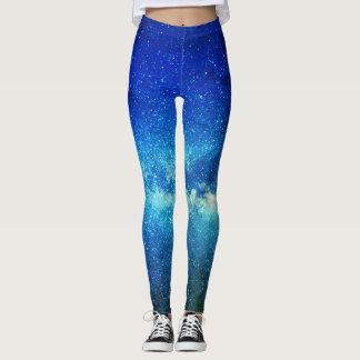 Leggings Guêtres bleues de gradient de turquoise d'univers