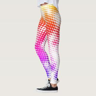 Leggings Guêtres colorées de motif de point