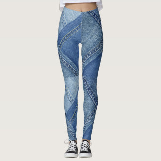 Leggings Guêtres colorées multi de denim