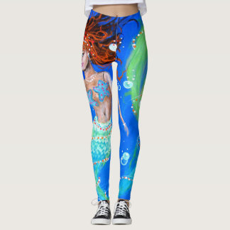 Leggings Guêtres de conception de sirène