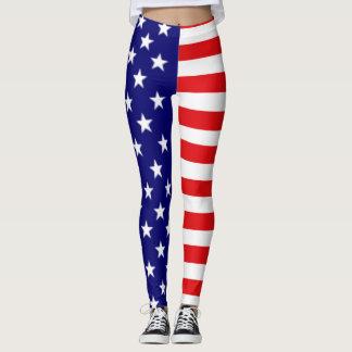 Leggings Guêtres de drapeau américain