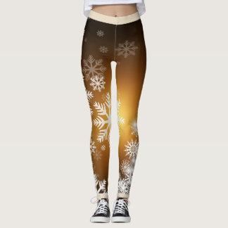 Leggings Guêtres de flocon de neige