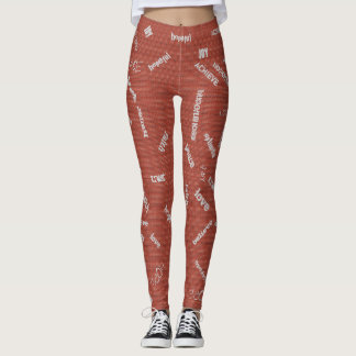 Leggings Guêtres de graffiti pour l'encouragement