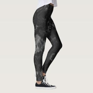 Leggings guêtres de gris fumeux et de noir