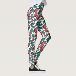 Leggings Guêtres de motif de baies