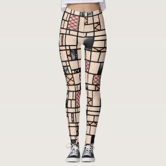 Leggings Guêtres de motif de peau et de cuir de filet d'art