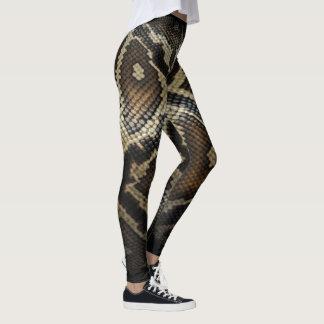 Leggings Guêtres de peau de serpent