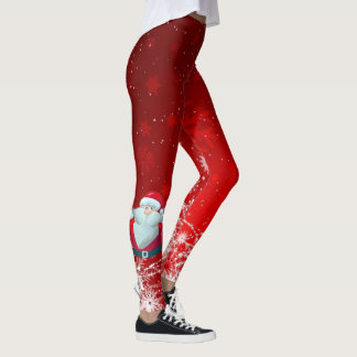 Leggings Guêtres de rouge de Père Noël