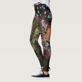 Leggings Guêtres de tigre de galaxie