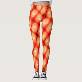 Leggings Guêtres d'éclat d'orange