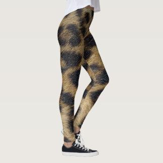 Leggings Guêtres d'impression de peau de léopard