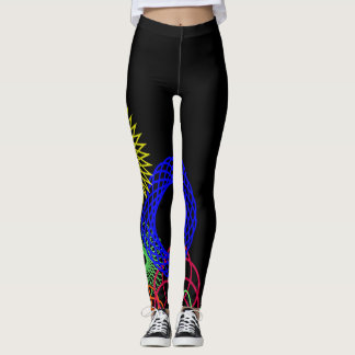 Leggings Guêtres en spirale de graphique d'amusement