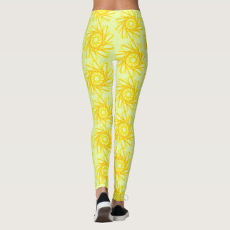 Leggings Guêtres en spirale d'or